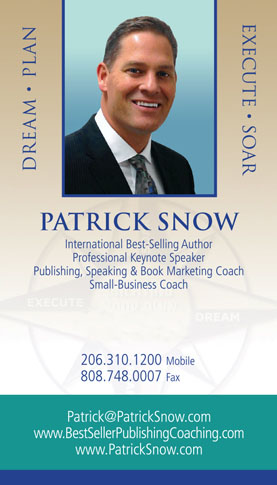 Patrick Snow's business card